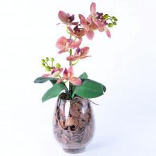 Arranjo de Orquídea de Silicone Outonada