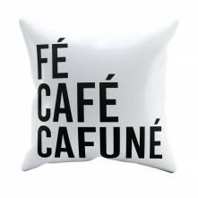 Kit Almofadas de Pelúcia Fé Café Cafuné com Enchimento