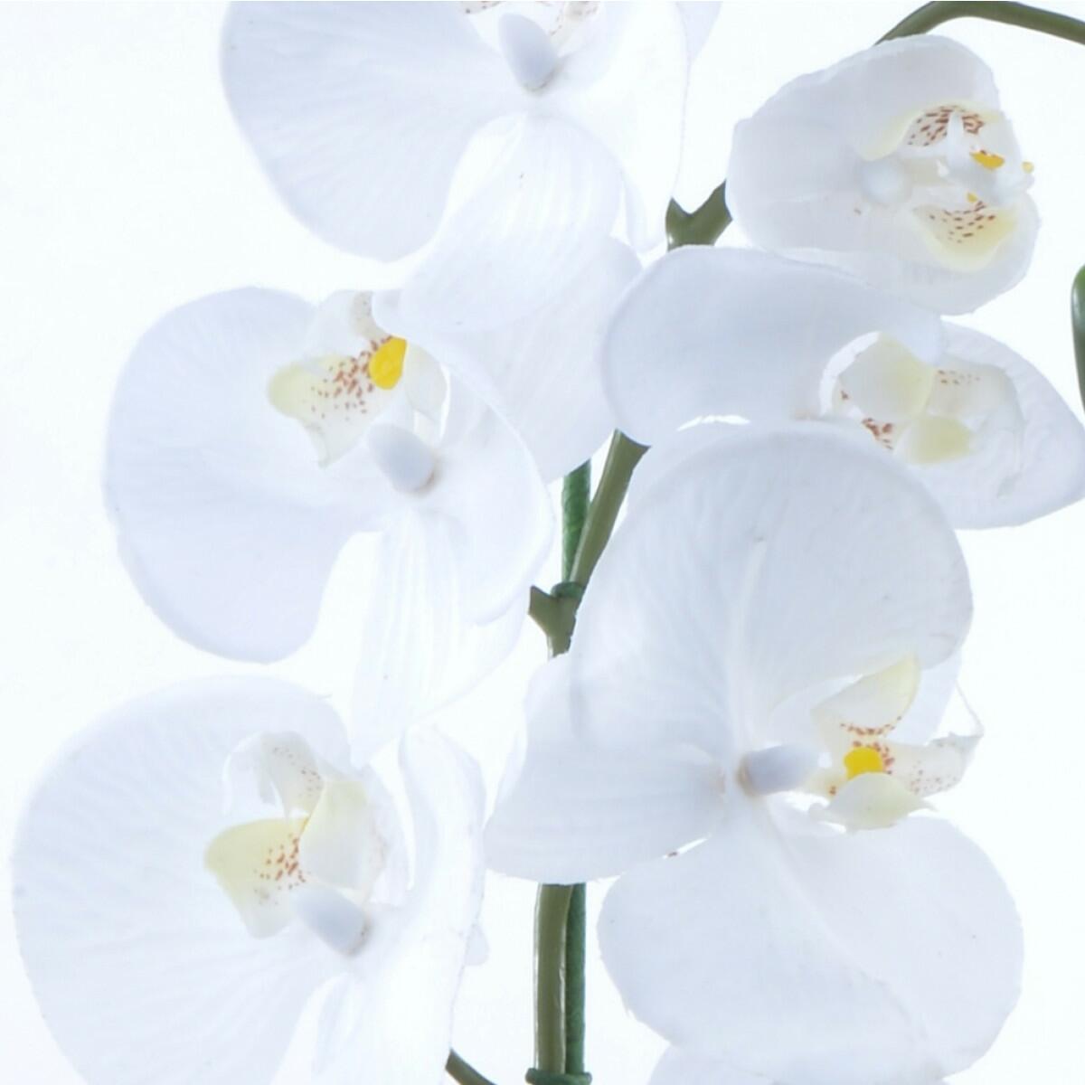 Arranjo de Orquídea Artificial Branca em Aquário Cobre Luiza
