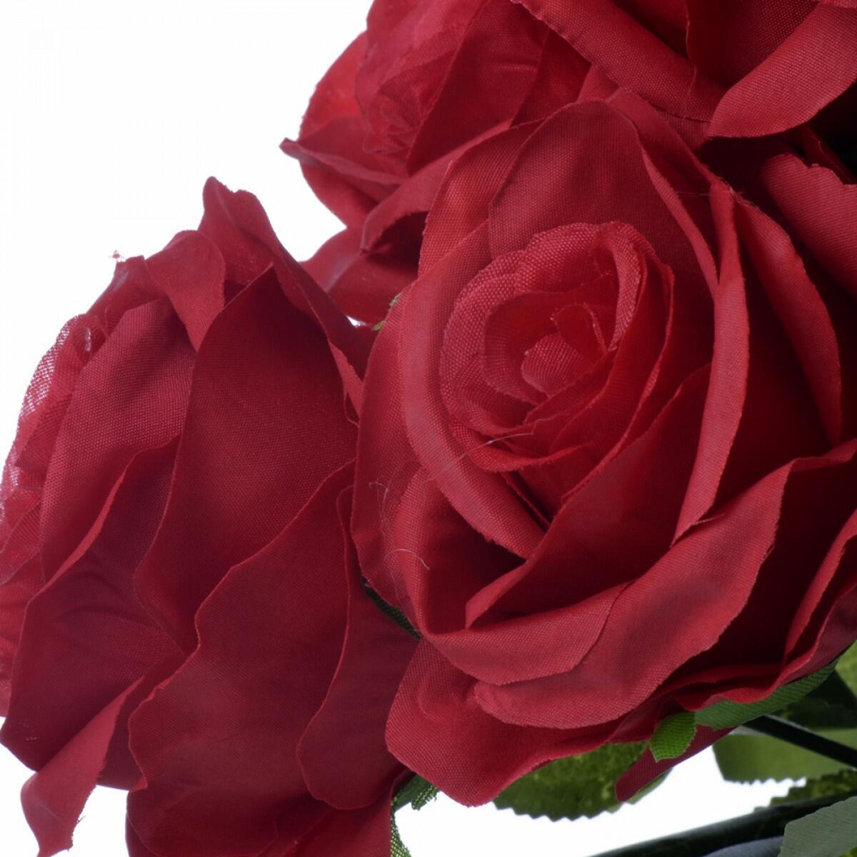 Buquê de Rosa Vermelha com 9 Galhos