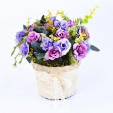Arranjo Romântico de Mini Rosas Lilás