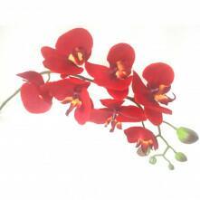Haste de Orquídea Vermelha de Silicone 70 cm