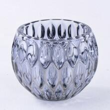 Vaso de Vidro Redondo Gotas Decorativo 8X8 cm